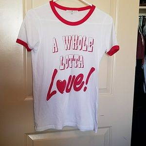 Junk food a whole lotta love graphic t shirt